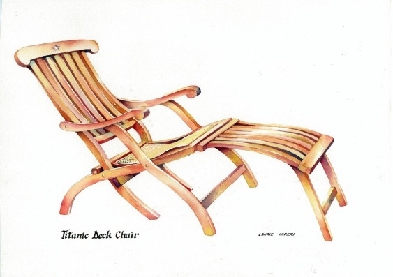 Titanic Deck Chair by Laurie Mireau.