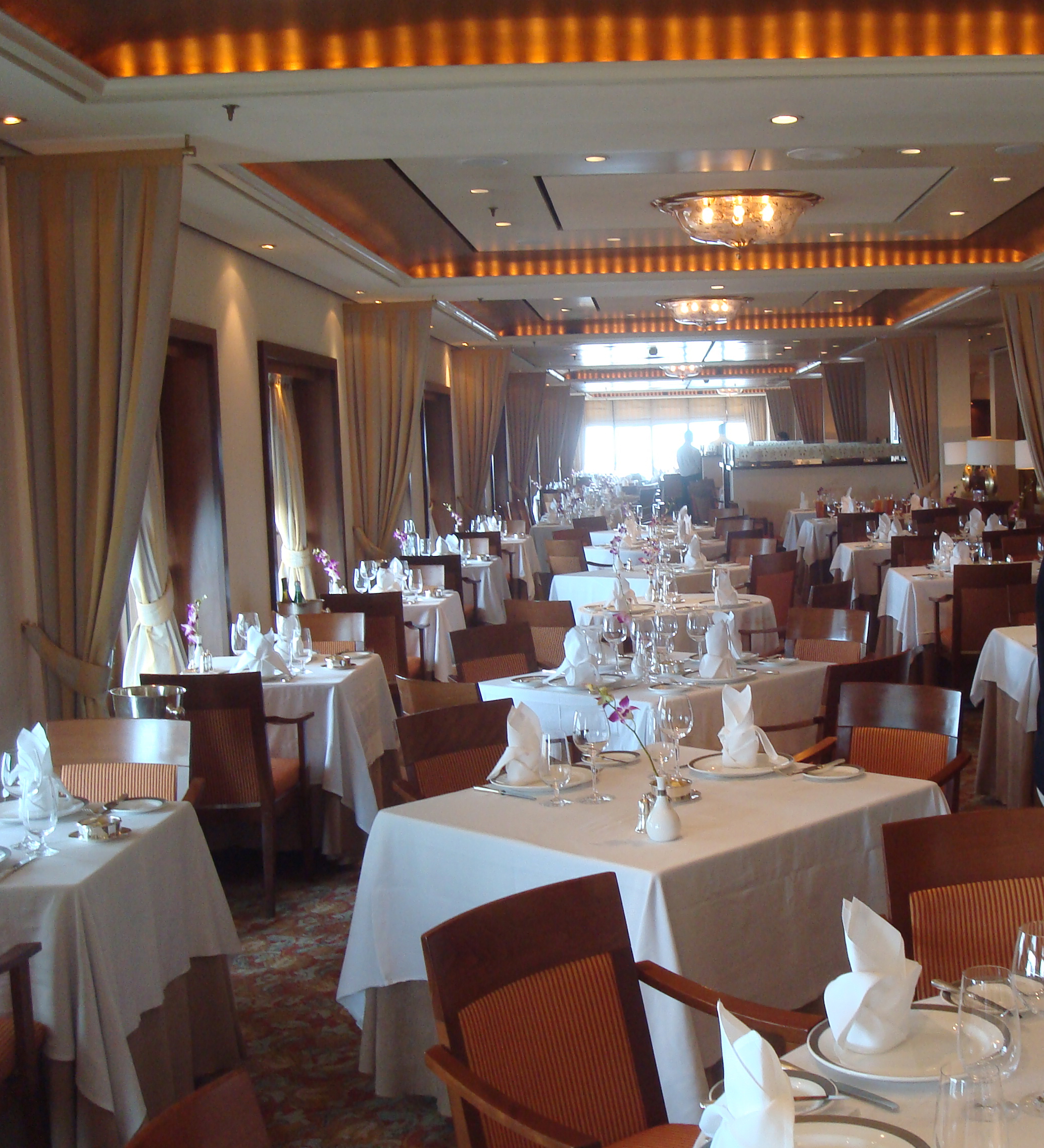 the cruise ship dining experience  the mains and the