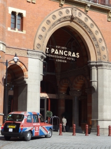The Renaissance St. Pancras Hotel, a Marriott property in London, used to be both an old hotel and the train station.  It has been fabulously restored.