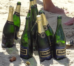 Champagne in the surf?  Even better with a bit of caviar!