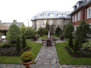 The back garden at Hayfield Manor in Cork.