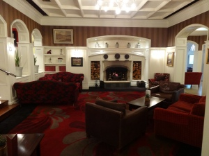 The lounge at Killarney Park Hotel, County Kerry.