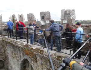 Waiting to kiss the Blarney Stone!