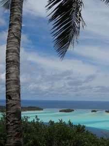 Bora Bora's aquamarine water is almost artificial looking.