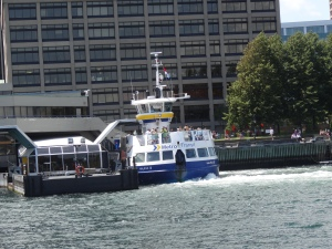 The best bargain way to see the city from the water is to hop on the Halifax-Dartmouth ferry for a return trip.