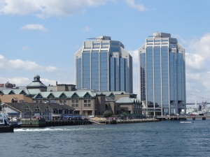 Halifax's waterfront: Historic Properties, the Marriott Hotel and Purdy's Wharf office towers beyond.