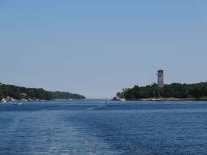 "The ""Dingle Tower"" & looking back out to sea from the Northwest Arm."