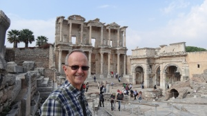 Art enjoying a tour of the ruins at Ephesus with our private guide.