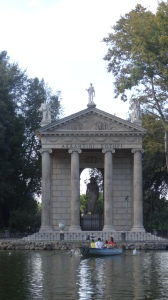 A walk through the Borghese Gardens brings you to many delightful places you simply cannot see if you don't get out and walk.
