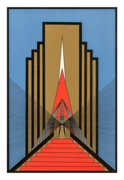 art deco drawing