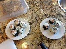 The finished sushi