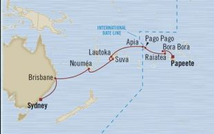 cruise map South Pacific