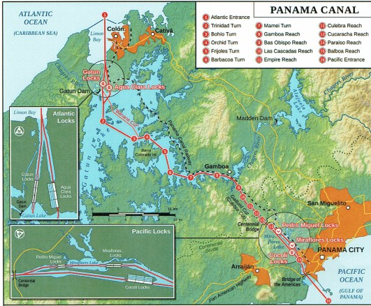 Panama Canal Map cropped