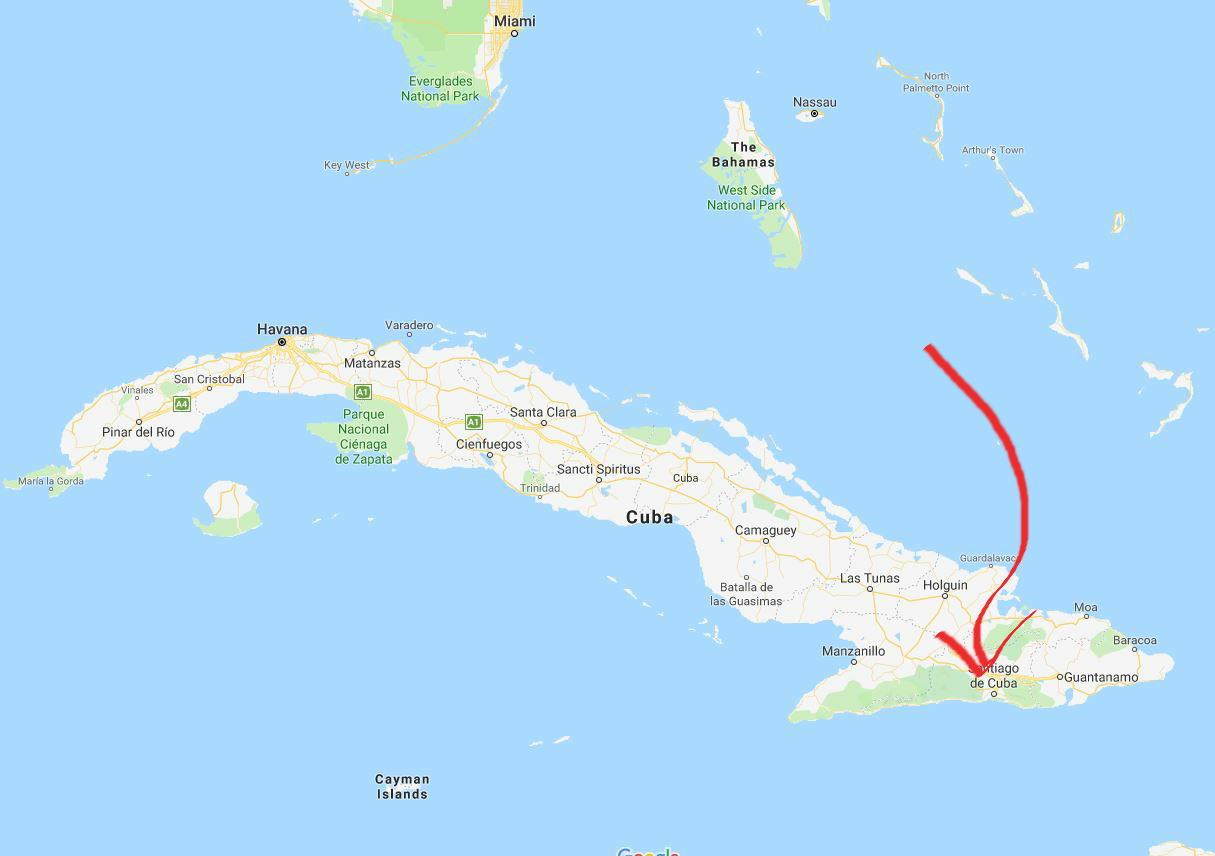 Santiago de Cuba mon map copy